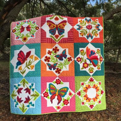 Borboleta BOM Pattern Set by Hat Creek Quilts