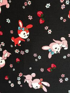 Bunnies Black Linen image