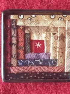 Charm - Log Cabin Scrappy Pin image