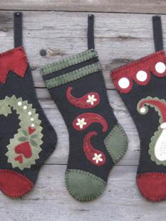 Wooden Spool Designs - Paisley Socks image