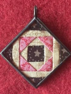 Charm - Square in a Square Pink Pendant image